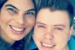 """""""Se fosse pela escola, eu teria desistido de estudar no prezinho"""", diz Laysa Machado, que namora o trans David Zimmermann/ Arquivo pessoal"""